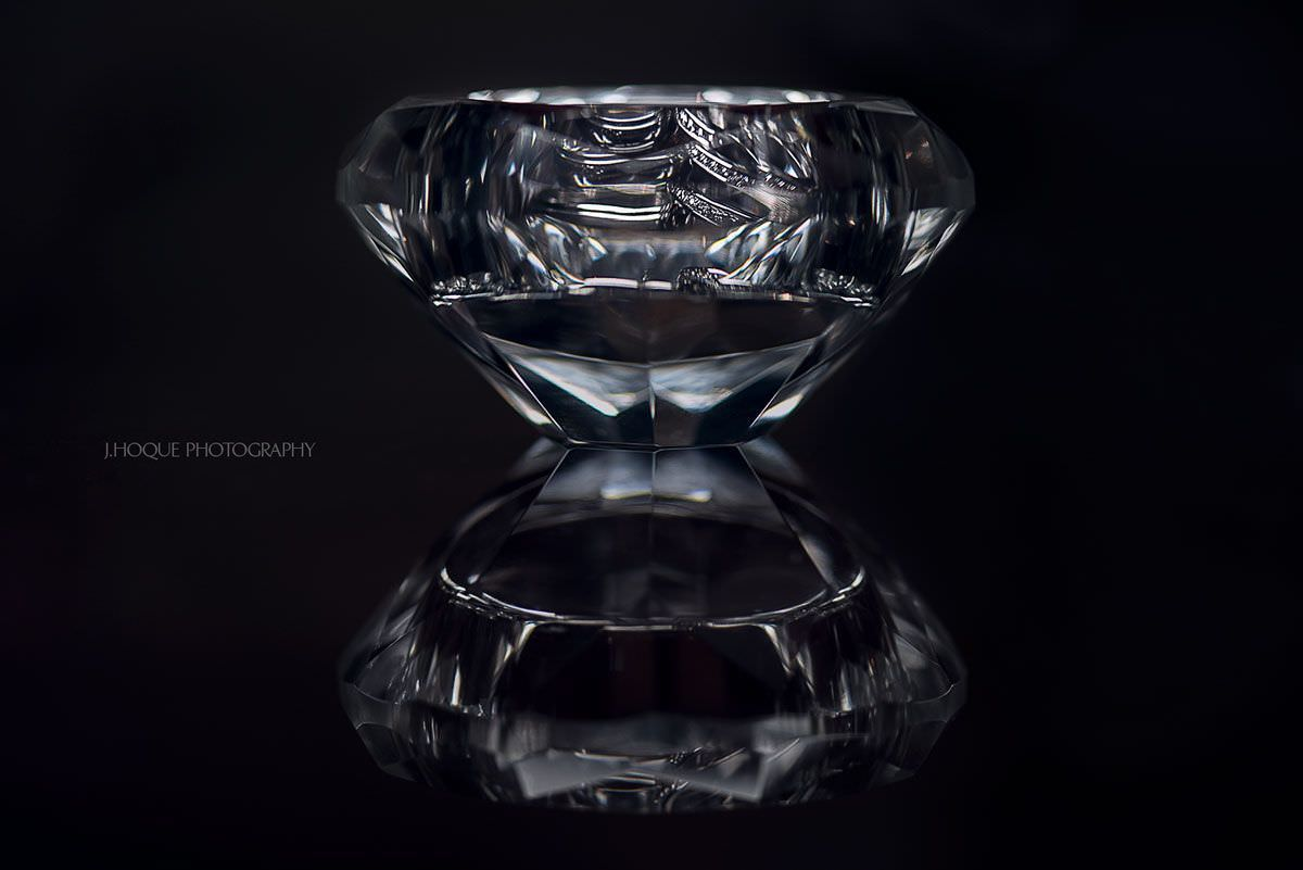 Wedding Rings in Diamond like candle holder | Hindu Wedding Photographer London