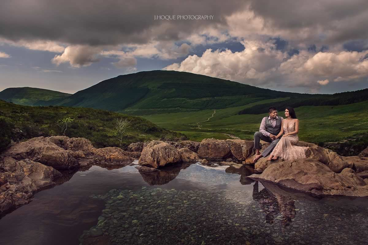 Fairy Pools Isle of Skye | Pre Wedding Shoot in Scotland | Luxury Asian Wedding Photography | 069