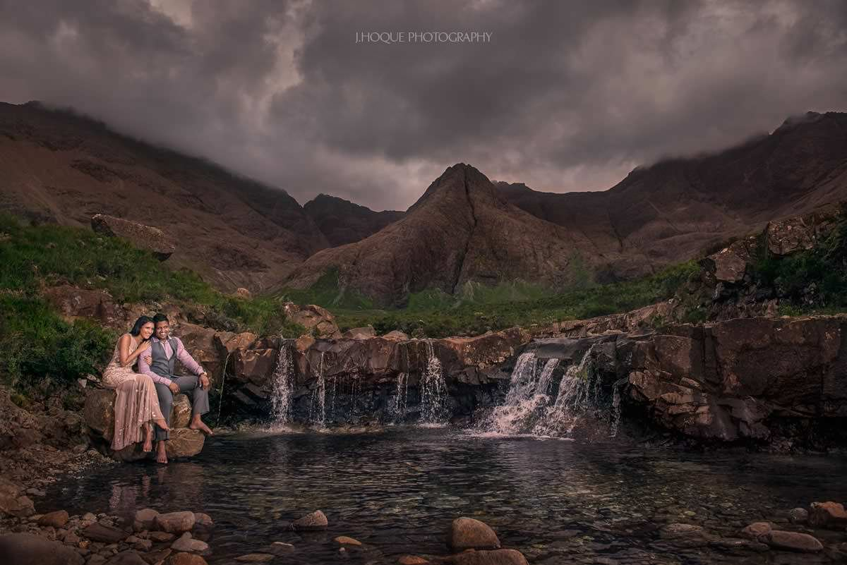 Fairy Pools Isle of Skye | Black Cuillins | Pre Wedding Shoot in Scotland | Luxury Tamil Indian Fusion Wedding Photography | 170
