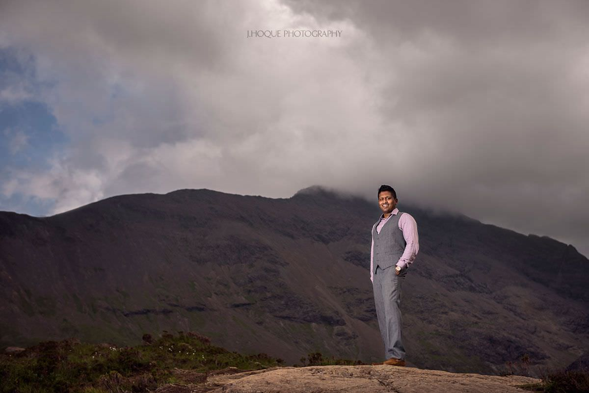 Fairy Pools Isle of Skye | Tamil Indian Fusion Pre Wedding Shoot in Scotland | 250