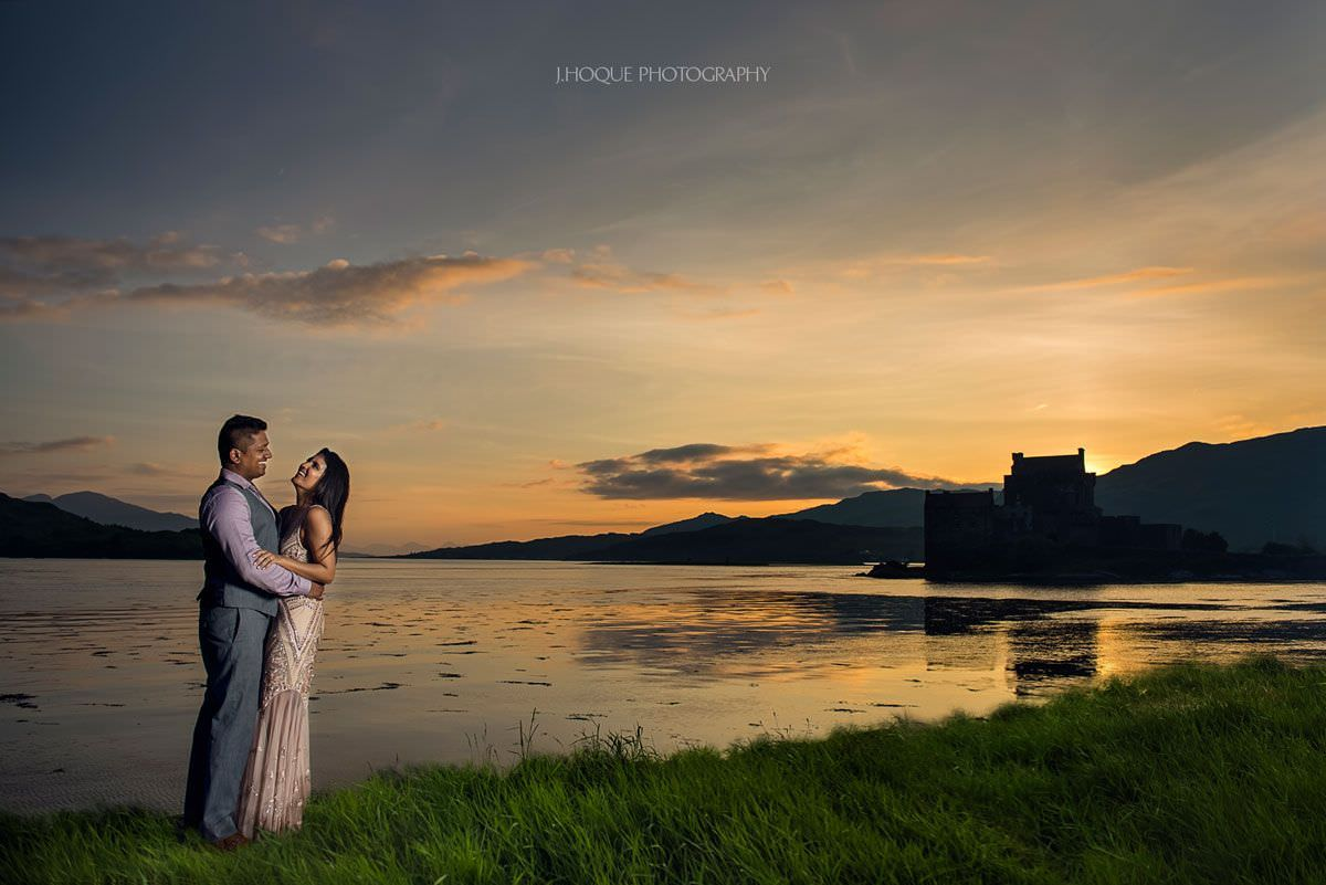 Eilean Donan Castle Dornie | Asian Fusion Pre Wedding Shoot in Scotland | 312