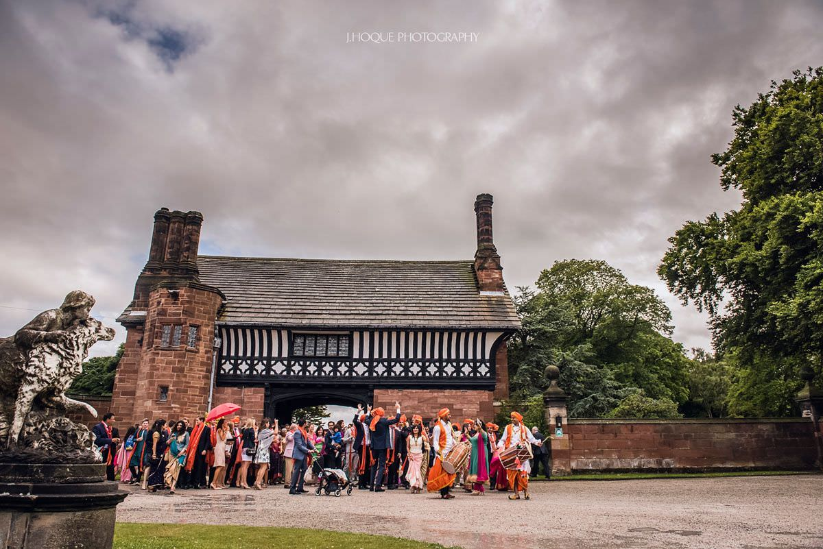 Bharat arriving at Thornton Manor | Indian Wedding Photography Cheshire | 08