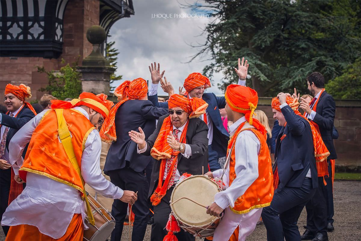 Wedding party dancing | Panjabi Hindu Wedding Photography Cheshire | 09