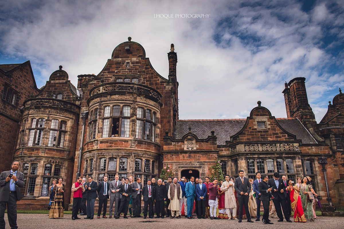 Bridal party waiting for groom | Luxury Asian Wedding at Thornton Manor Cheshire | 10