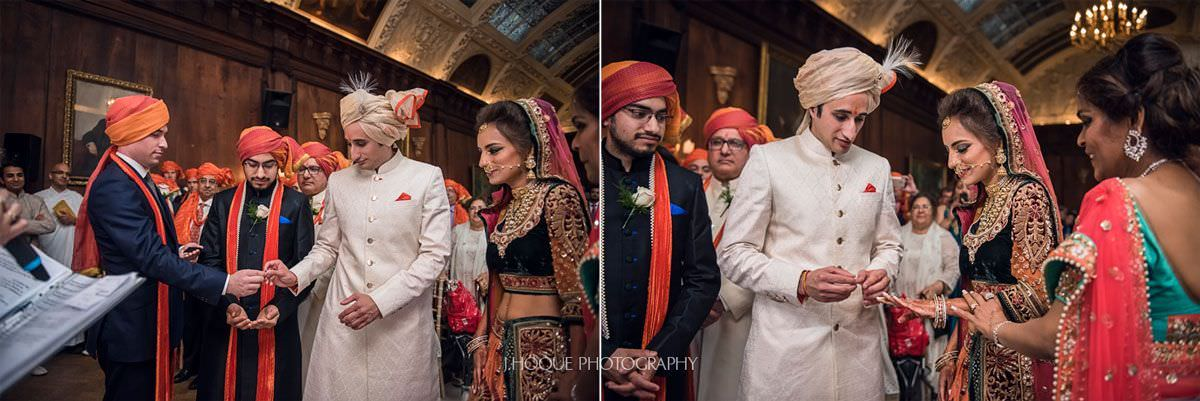 Ring exchange | Indian civil ceremony at Thornton Manor | 30