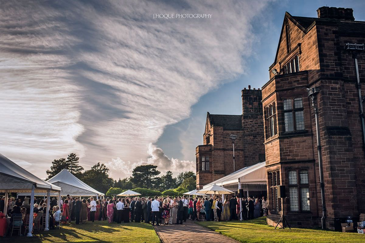 Drinks reception at Thornton Manor Wedding | 53