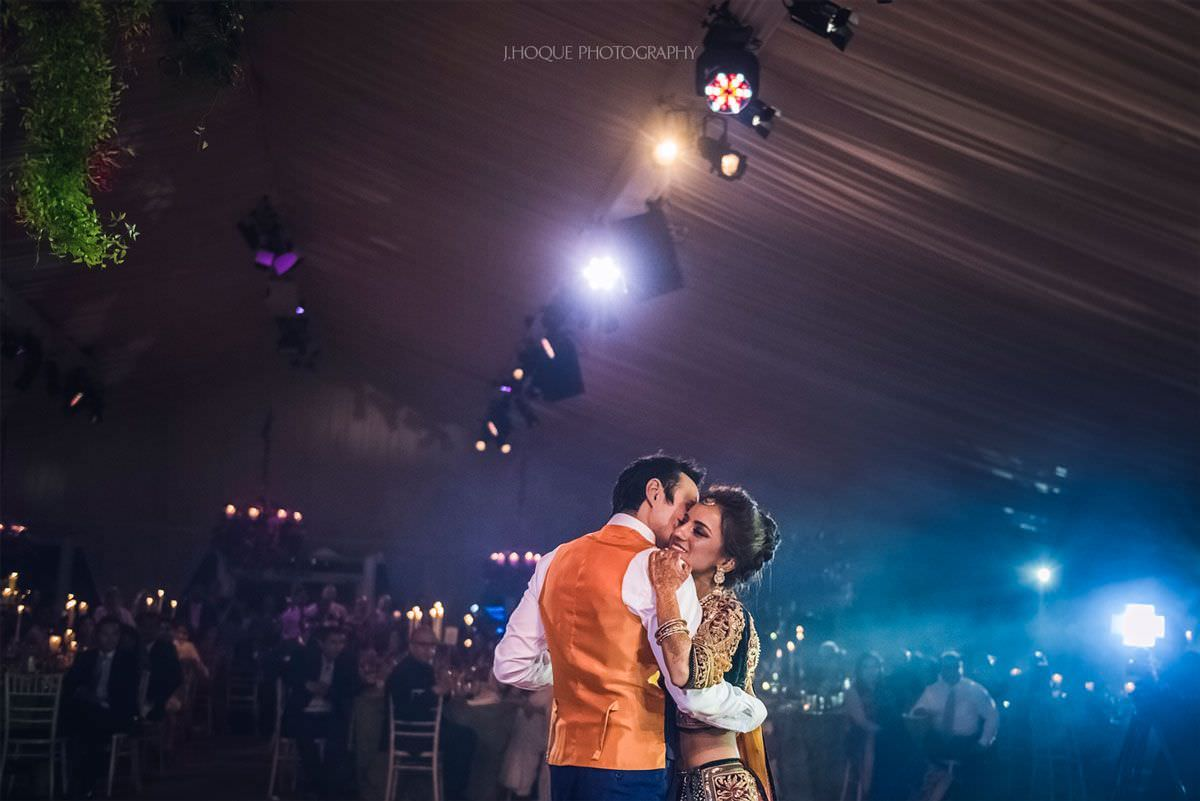 Bride and groom first Dance | Luxury Asian Wedding Photography Cheshire | 64