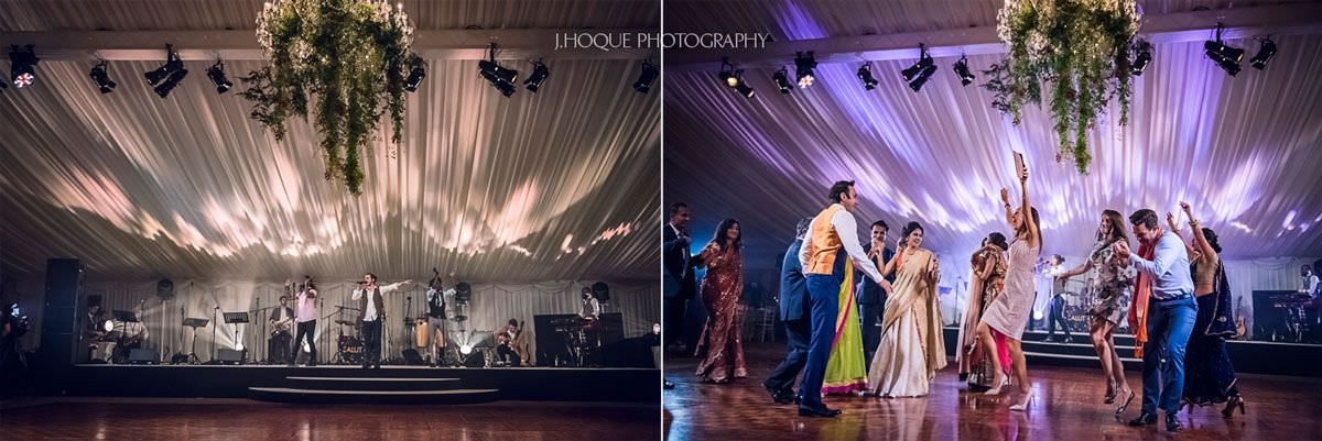 Salut Band sing at Indian Wedding Reception Cheshire | 66