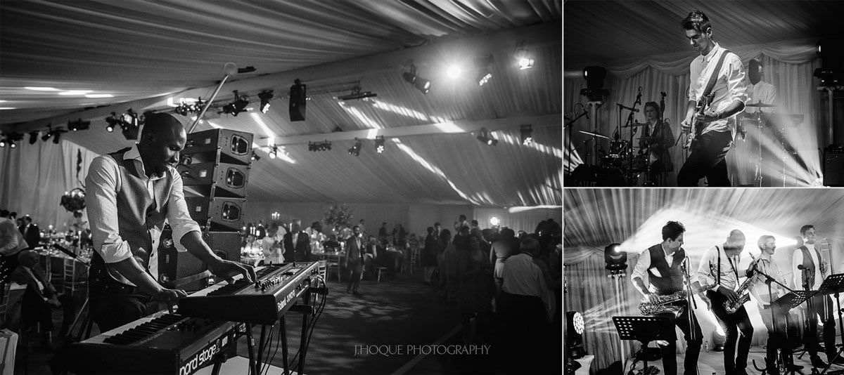 Salut Band members performing at wedding reception | Luxury Asian Wedding Photographer Cheshire | 68