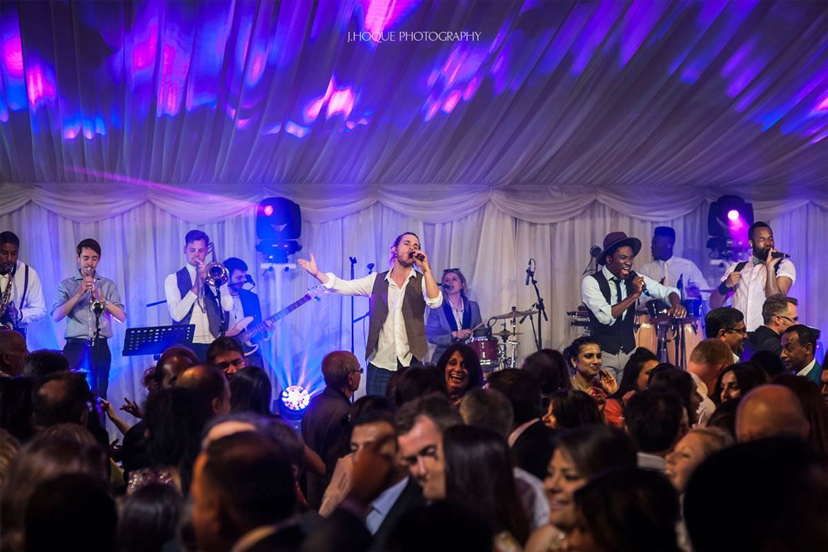 Salut Band performing at Indian Wedding Reception Cheshire | 69