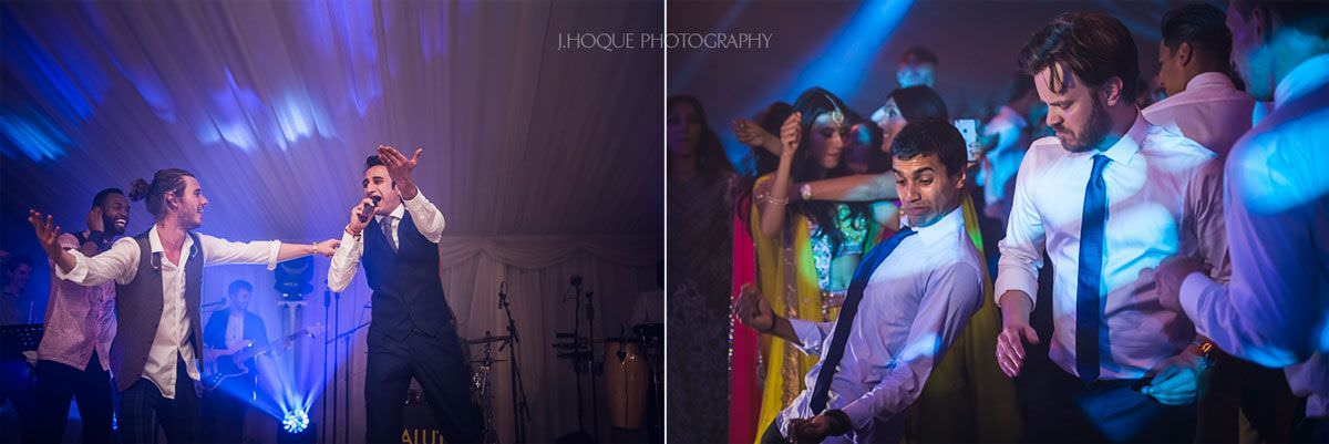 Groom sings with live band | Luxury Indian wedding photographer | 77