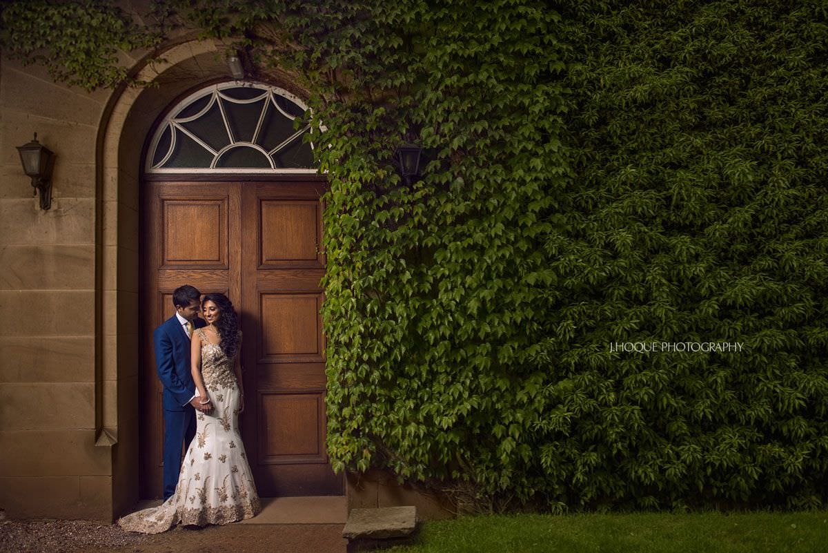 Bride and groom portrait | Indian Wedding Reception | Tatton Park Cheshire