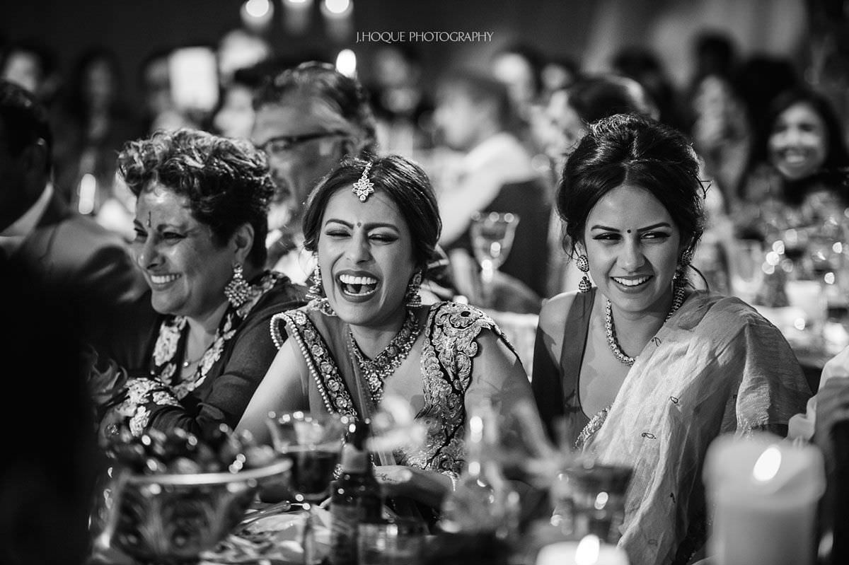 Brides sister laughing | Luxury Documentary Indian Wedding Photography Cheshire