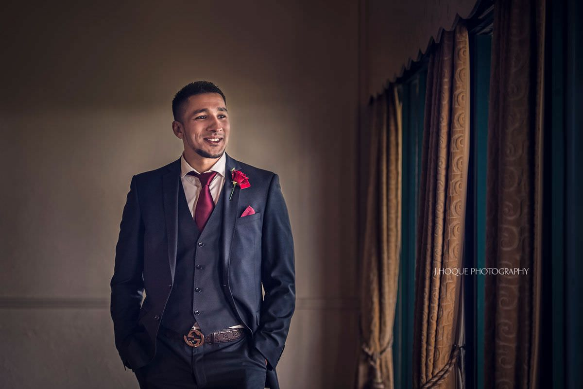 Portrait of Brides Brother | Pakistani Afghan Muslim Fusion Wedding at Three Rivers Golf Club Essex