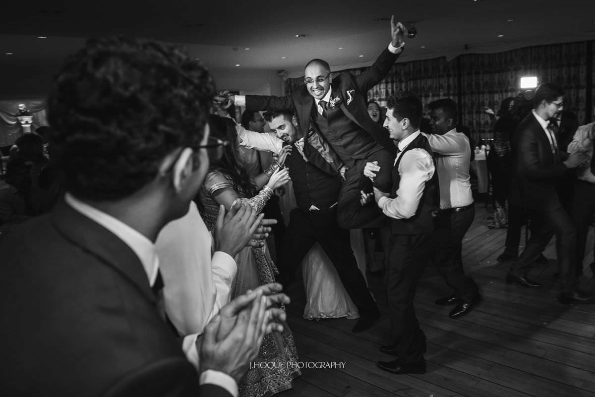 Groom almost being dropped | Three Rivers Muslim Wedding Photographer