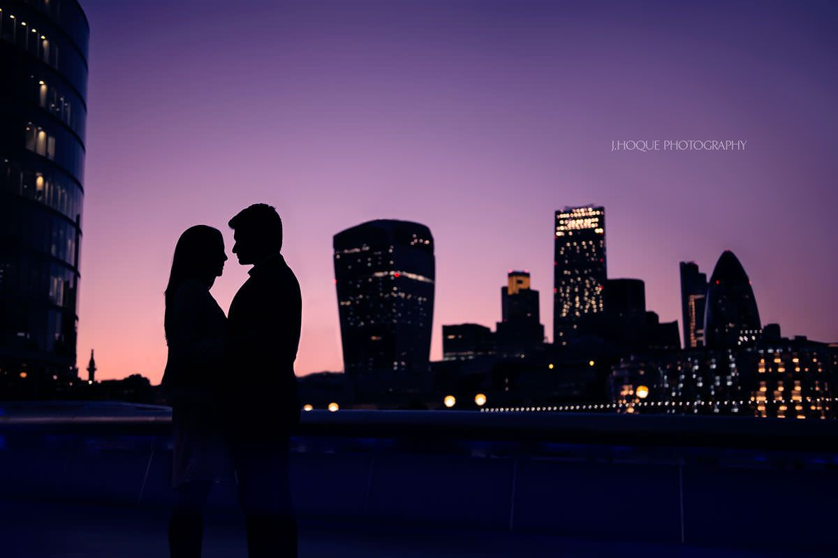 Cityscape Silhouette London | Gujarati Wedding Photography
