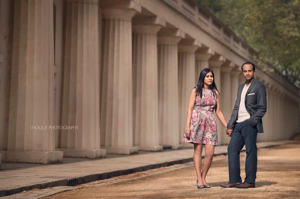 Pall Mall Engagement Shoot | Tamil Gujarati Fusion Wedding London