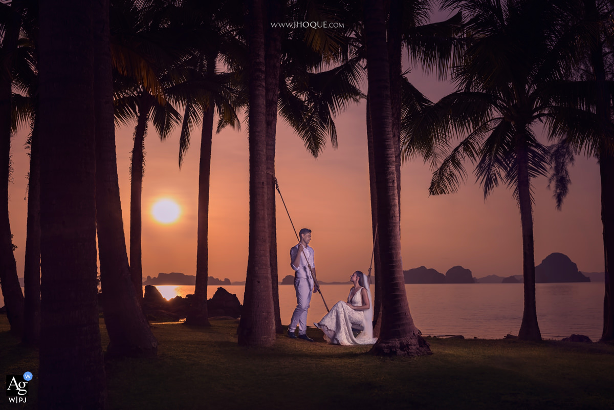 Sunset | Thailand Destination Wedding | AGWPJA Award Dec 2018 v03