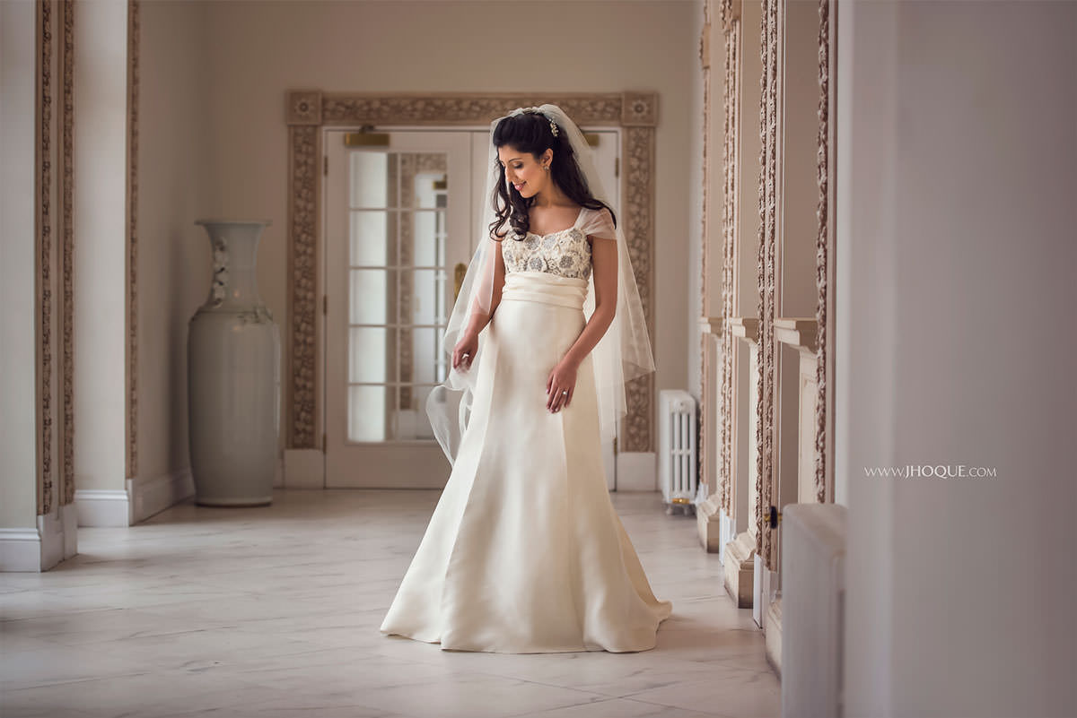 Elegant Bride Portrait | Froyle Park Asian Wedding Photographer